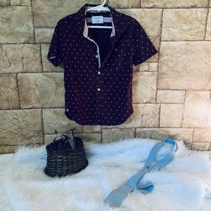 Boys Casual button Down Print